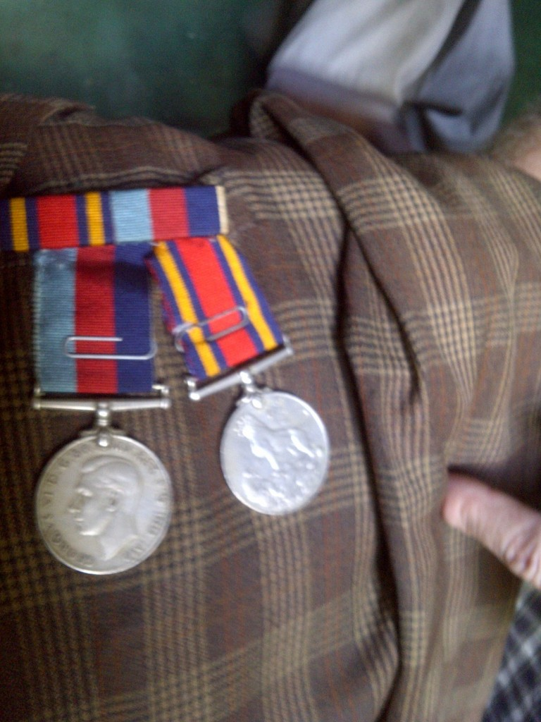 Lance Corporal Edward Bwembya's medals earned in Ethiopia and Somalia